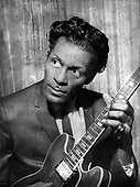"""CHUCK BERRY - Charles Edward Anderson """"Chuck"""" Berry (October 18, 1926 – March 18, 2017)- circa 1965.  Photo: MMMedia Archive/IconicPix"""