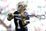 23 April 2016: Notre Dame's Austin Gaiss. The University of North Carolina Tar Heels hosted the University of Notre Dame Fighting Irish at Kenan Stadium in Chapel Hill, North Carolina in a 2016 NCAA Division I Men's Lacrosse match. UNC won the game 17-15.
