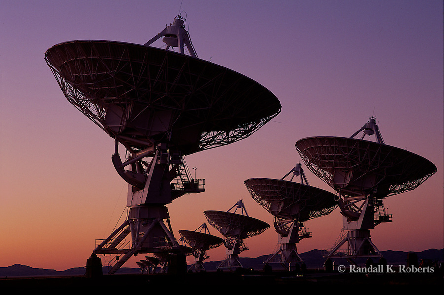 Radio telescopes at the Very Large Array near Socorro, New Mexico