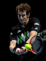 Andy Murray (GBR) (5) against Roger Federer (SUI) (2) in a Group B match. Roger Federer beat Andy Murray 6-4 6-2..International Tennis - Barclays ATP World Tour Finals - O2 Arena - London - Day 3 - Tue 23 Nov 2010..© Frey - AMN Images, Level 1, Barry House, 20-22 Worple Road, London, SW19 4DH.Tel - +44 208 947 0100.Email - Mfrey@advantagemedianet.com.Web - www.amnimages.photshelter.com