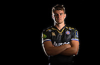 Ollie Devoto poses for a portrait in the 2015/16 European kit during a Bath Rugby photocall on September 8, 2015 at Farleigh House in Bath, England. Photo by: Patrick Khachfe / Onside Images