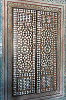 Mother-of-pearl inlay doors of harem of Privy Chamber of Sultan Murad III in Topkapi Palace, Sarayi, Istanbul, Turkey