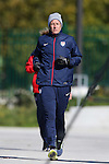14 October 2014: Abby Wambach. The United States Women's National Team held a training session on the stadium field at Swope Park Soccer Village in Kansas City, Missouri in preparation for the CONCACAF Women's World Cup Qualifying Tournament for the 2015 Women's World Cup in Canada.