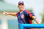 6 March 2006: Tim Foli, coach for the Washington Nationals, tosses batting practice prior to a Spring Training game against the Los Angeles Dodgers. The Nationals and Dodgers played to a scoreless tie at Holeman Stadium, in Vero Beach Florida...Mandatory Photo Credit: Ed Wolfstein..