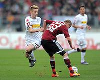 FUSSBALL   1. BUNDESLIGA  SAISON 2011/2012   24. Spieltag 1. FC Nuernberg - Borussia Moenchengladbach      04.03.2012 Marco Reus (li, Borussia Moenchengladbach) gegen Adam Hlousek (1 FC Nuernberg)