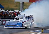 Jun 18, 2016; Bristol, TN, USA; NHRA funny car driver Dave Richards during qualifying for the Thunder Valley Nationals at Bristol Dragway. Mandatory Credit: Mark J. Rebilas-USA TODAY Sports