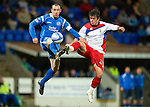 St Johnstone v Inverness Caledonian Thistle.....25.04.11.Dave Mackay and Aaron Doran.Picture by Graeme Hart..Copyright Perthshire Picture Agency.Tel: 01738 623350  Mobile: 07990 594431