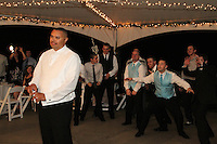 Mindy and Joel's Wedding October 14, 2011 - garter toss.