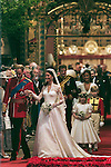 Mcc0031197 . Daily Telegraph..Fixed Point..Prince William and and Kate Middleton leaving Westminster Abbey as husband and wife...The Royal Wedding of Prince William and Kate Middleton..London 29 April 2011