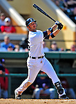 5 March 2009: Detroit Tigers' center fielder Ryan Raburn in action during a Spring Training game against the Washington Nationals at Joker Marchant Stadium in Lakeland, Florida. The Tigers defeated the visiting Nationals 10-2 in the Grapefruit League matchup. Mandatory Photo Credit: Ed Wolfstein Photo
