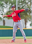 7 March 2015: St. Louis Cardinals infielder Dean Anna warms up prior to a Spring Training game against the Washington Nationals at Space Coast Stadium in Viera, Florida. The Cardinals fell to the Nationals 6-5 in Grapefruit League play. Mandatory Credit: Ed Wolfstein Photo *** RAW (NEF) Image File Available ***