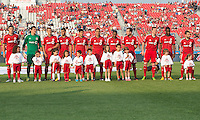 July 3, 2013: Toronto FC during the opening ceremonies in an MLS game between Toronto FC and Montreal Impact at BMO Field in Toronto, Ontario Canada.<br /> The game ended in a 3-3 draw.