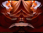 Fractal Chimney II, Fractal Composite, Upper Antelope Canyon, Tse-Bighanilini, Slot Canyon, Lake Powell Navajo Tribal Park, Page, Arizona