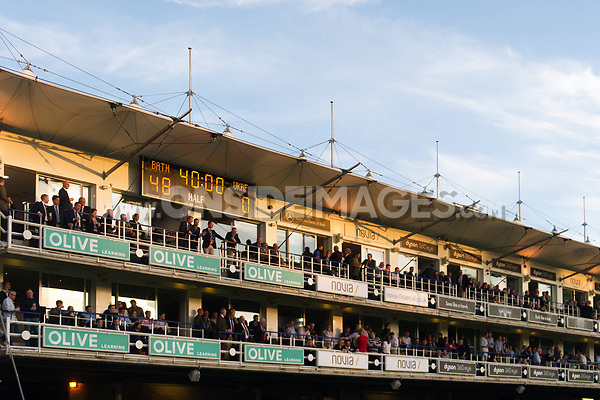 A general view of the hospitality boxes in the south stand. Remembrance Rugby match, between Bath United and the UK Armed Forces on May 10, 2017 at the Recreation Ground in Bath, England. Photo by: Patrick Khachfe / Onside Images