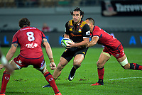 James Lowe in action during the Super Rugby match between the Chiefs and Reds at Yarrow Stadium in New Plymouth, New Zealand on Saturday, 6 May 2017. Photo: Dave Lintott / lintottphoto.co.nz