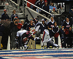 Ole Miss wide receiver Donte Moncrief (12) is unable to catch a pass while defended by Texas A&amp;M defensive back Tramain Jacobs (7) at Vaught-Hemingway Stadium in Oxford, Miss. on Saturday, October 6, 2012. Texas A&amp;M rallied from a 27-17 4th quarter deficit to win 30-27.