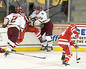 Brian Dumoulin (BC - 2), Wade Megan (BU - 18), Bill Arnold (BC - 24) - The Boston College Eagles defeated the visiting Boston University Terriers 5-2 on Saturday, December 4, 2010, at Conte Forum in Chestnut Hill, Massachusetts.
