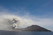 Tuvurvur volcano blows ash, near Rabaul, East New Britain Island, Papua New Guinea,  Saturday 20th September 2008.