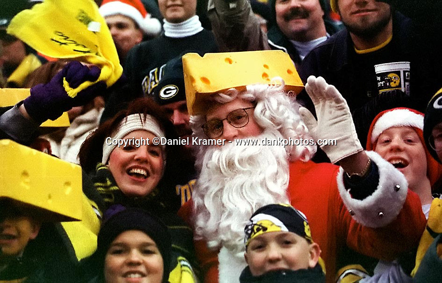 Santa Claus is a Packers fan! At the Dec. 22, 1996 game against the Minnesota Vikings at Lambeau Field in which the Packers emerged victorious 38-10.