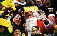 Santa Claus is a Packers fan! At the Dec. 23, 1996 game against the Minnesota Vikings at Lambeau Field.