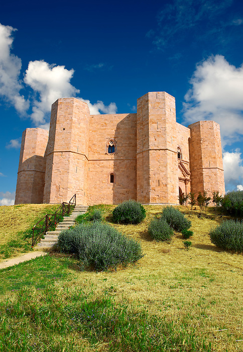The medieval octagonal castle Castel Del Monte, built by Emperor Frederick II in the 1240's near Andria in the Apulia southern Italy