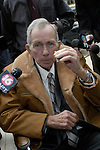 Ernest Avants enjoys a cigarette ouside the Federal court house in Jackson,MS Friday February 28,2003.  after the jury has been instructed on how to come to a verdict. Ernest Avants is accused of murdering sharecropper Ben Chester White in 1966 on federal land. (photo/Suzi Altman)