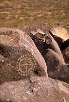 Petroglyphs with a circle and dot motif are prevalent at Three Rivers. The Three Rivers Petroglyphs are outstanding examples of prehistoric Jornada Mogollon rock art. The basaltic ridge rising above the Three Rivers valley contains over 21,000 petr petrog