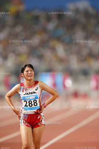 Sayori Matsumoto (JPN), <br /> AUGUST 23, 2014 - Athletics : <br /> Women's 5000m Race Waik Final <br /> at Nanjing Olympic Sports Center <br /> during the 2014 Summer Youth Olympic Games in Nanjing, China. <br /> (Photo by Yusuke Nakanishi/AFLO SPORT) [1090]