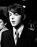 The Beatles 1968 Paul McCartney at a press conference st the Royal Garden Hotel, London to promote the Leicester Arts Festival.