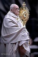 Pope Francis  Te Deum prayers in Saint Peter's Basilica at the Vatican.December 31, 2015