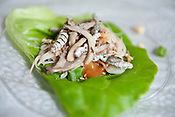 Silkworm lettuce wraps at Wednesday's Invertebrate Feast at NCMLS on June 20th 2012.