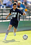 15 October 2008: University of New Hampshire Wildcats' forward Dylan George, a Sophomore from Bangor, Maine, in action against the University of Vermont Catamounts at Centennial Field, in Burlington, Vermont. The Wildcats and Catamounts battled in overtime to a 0-0 tie...Mandatory Photo Credit: Ed Wolfstein Photo