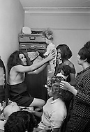 New York City, NY, 1966-1967. <br /> A community of transgenders, living aorund 66th Street and Broadway where they use to work at night. During the day instead they design clothes, play with dolls, and organize little fashion shows on the rooftops.