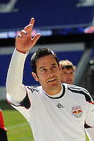 New York Red Bulls individual development coach Mike Petke during practice on Media Day at Red Bull Arena in Harrison, NJ, on March 15, 2011.