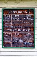 Train Station Schedule Sign CN Fort Langley Station, Fort Langley B.C.