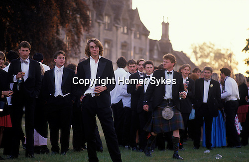 Morning after end of year summer ball. Cirencester Agricultural College. GLOUCESTERSHIRE 1980s.