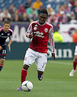 Portland Timbers midfielder Kalif Alhassan (11) at midfield. In a Major League Soccer (MLS) match, the New England Revolution defeated Portland Timbers, 1-0, at Gillette Stadium on March 24, 2012