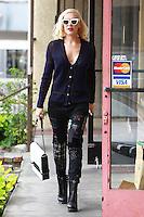 Gwen Stefani visits the Acupuncture Office In LA