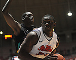 "Ole Miss' Terry Brutus (25) vs. Coastal Carolina at the C.M. ""Tad"" Smith Coliseum in Oxford, Miss. on Tuesday, November 13, 2012."