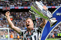 Millwall's Tony Craig celebrates winning the Division One Play-Off Final during Bradford City vs Millwall, Sky Bet EFL League 1 Play-Off Final at Wembley Stadium on 20th May 2017