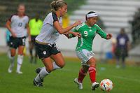 22 June 2008:  Action photo of Charlyn Corral (R) of Mexico, during game of the  Campeonato Femenil Sub 20 held at Puebla./Foto de accion de Charlyn Corral (D) de Mexico, durante juego del Campeonato Femenil Sub 20 celebrado en Puebla. MEXSPORT/OMAR MARTINEZ