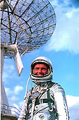 Astronaut John H. Glenn Jr., pictured in January, 1962, is attired in a training version of a Mercury space suit, during a break from training for the MA-6 mission scheduled for launch aboard the Friendship 7 spacecraft..Credit: NASA via CNP