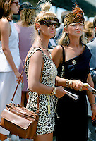 Racegoers at Melbourne Cup Races at Victoria Racing Club, Australia