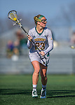 30 March 2016: University of Vermont Catamount Midfielder Vanessa VanderZalm, a Senior from Pelham, Ontario, in second half action against the Manhattan College Jaspers at Virtue Field in Burlington, Vermont. The Lady Cats defeated the Jaspers 11-5 in non-conference play. Mandatory Credit: Ed Wolfstein Photo *** RAW (NEF) Image File Available ***