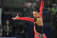 September 10, 2009; Mie, Japan;  Alina Maksymenko of Ukraine expresses with ribbon. Alina went on to place 16th in the individual All Around at 2009 World Championships Mie. Photo by Tom Theobald .
