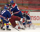 - The visiting University of Massachusetts Lowell River Hawks defeated the Harvard University Crimson 5-0 on Monday, December 10, 2012, at Bright Hockey Center in Cambridge, Massachusetts.