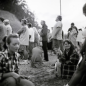 Wise, Virginia<br /> USA<br /> July 25, 2009<br /> <br /> Large crowds gather outside the gates that opened at 5.30AM letting in nearly 700 people to the free Remote Area Medical (RAM) health clinic at the Wise County Fairgrounds. This who arrive late may not be able to enter due to heavy crowds. An additional 600 people entered that day. The free clinic, which lasts 2-1/2 days, is the largest of its kind in the nation, providing medical, dental and vision services from more than 1,700 medical volunteer that treated some 4,000 patients. For many residents of this Appalachian area the RAM clinic serves as the only medical care they may receive each year.