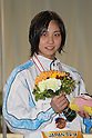 Emu Higuchi, FEBRUARY 11, 2012 - Swimming : The 53rd Japan Swimming Championships (25m) Women's 400m Individual Medley Victory Ceremony .at Tatsumi International Swimming Pool, Tokyo, Japan. (Photo by YUTAKA/AFLO SPORT) [1040]