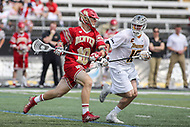 Towson, MD - March 25, 2017: Denver Pioneers Colton Jackson (10) attempts a shot during game between Towson and Denver at  Minnegan Field at Johnny Unitas Stadium  in Towson, MD. March 25, 2017.  (Photo by Elliott Brown/Media Images International)