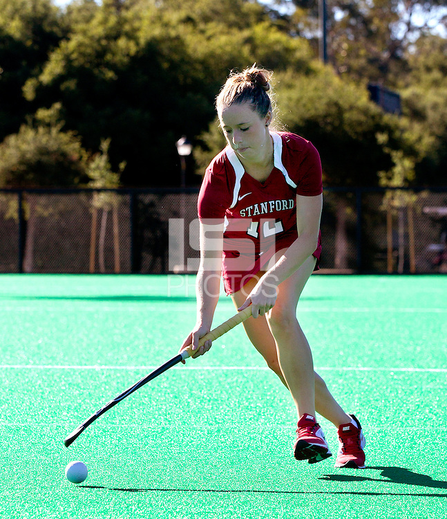 STANFORD, CA - AUGUST 13, 2013 -<br /> Freshman Kristina Bassi with the Stanford Women's field hockey team.